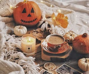 candle, coffee, and Halloween image