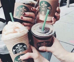 starbucks, coffee, and friends image