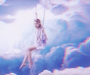 ariana grande, beauty, and clouds image