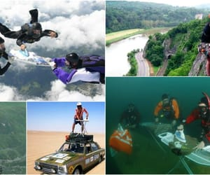 chessboxing, extreme ironing, and crazy sports image