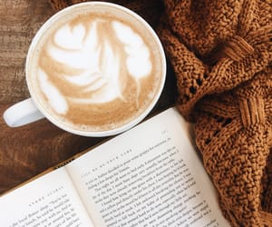 autumn, drinks, and book image