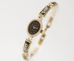 etsy, oval face watch, and unique watch her image