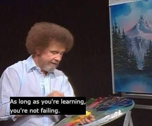 bob ross, quotes, and painting image