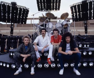 Queen, Freddie Mercury, and roger taylor image
