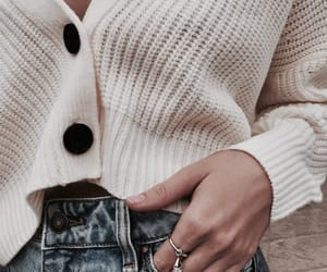 chic, denim, and fall image