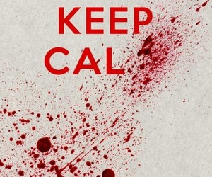 keep calm and blood image