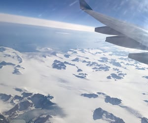 greenland, ice, and airplane image
