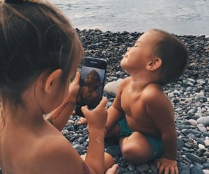 baby, kids, and beach image