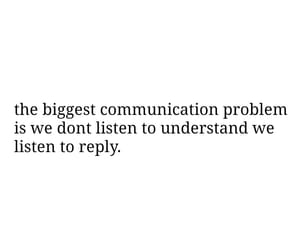 communication, listen, and problem image