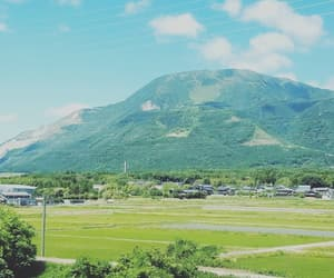 blue skies, countryside, and japan image