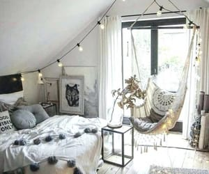 bedroom, home, and white image