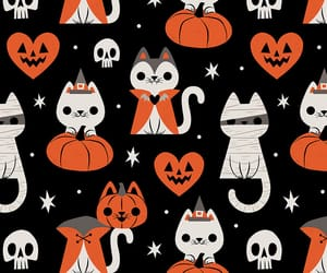 cat, Halloween, and wallpaper image
