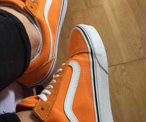 old skool, vans, and orange image
