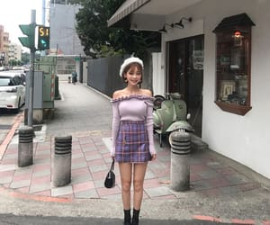 asians, korean, and purple image