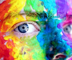 art, blue eyes, and color image