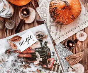 art, candles, and autumn image