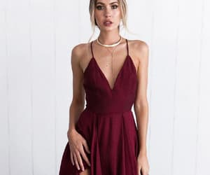 red party dress, sexy party dress, and beautiful party dress image