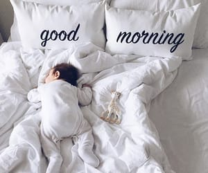 baby, cute, and morning image