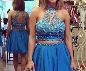 prom dresses two piece and prom dresses blue image