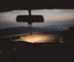 car, dark, and drive image