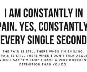 pain, quote, and chronicallyill image