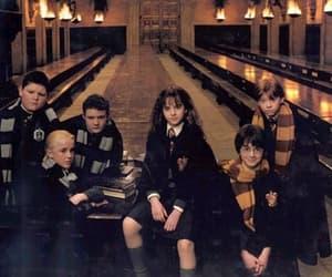 harry potter, draco malfoy, and hogwarts image