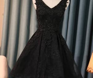 beautiful prom dresses, prom dresses lace, and homecoming dress black image