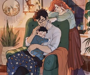 art, lily and james potter, and ginny weasley image