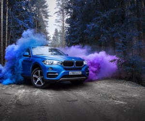 blue, x6, and bmw image