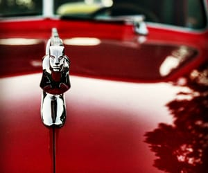 cars, maroon, and hood ornament image