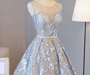 silver prom dresses, prom dresses lace, and beautiful prom dresses image