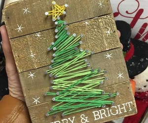 christmas tree, diy, and wood image