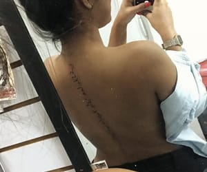 aesthetic, arabic, and back tattoo image