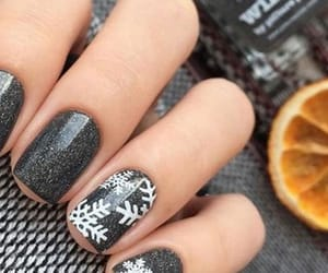 glitter, gray, and nails image