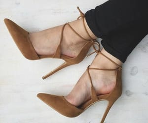 brown, chaussures, and heels image