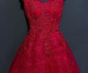 beautiful prom dress, homecoming dresses lace, and v neck prom dress image