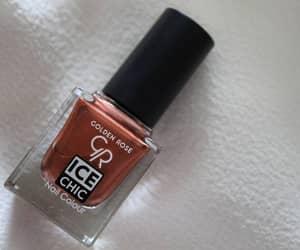 brown, nail polish, and nails image