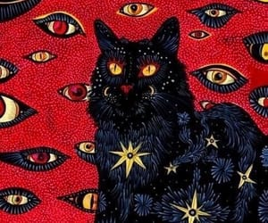 cat, red, and eyes image