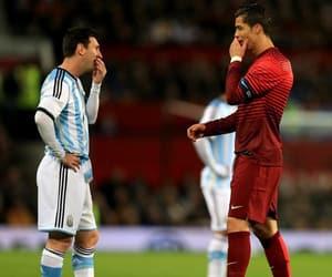 football, Ronaldo, and messi image