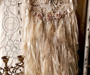 dreamcatcher, lace, and shabby chic image