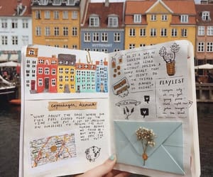 journal, travel, and art image