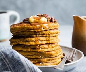 food, pancakes, and pumpkin image