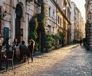 travel, city, and cafe image