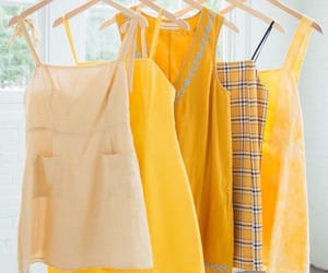 dress, yellow, and aesthetic image