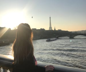 bridge, eiffel, and hair image