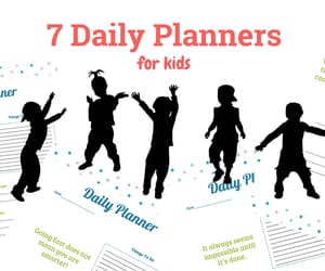 kids, planner for kids, and kids daily planner image