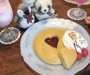 cream, heart, and pancake image