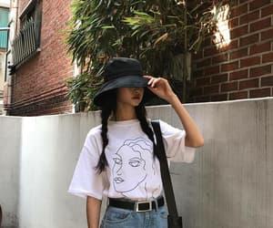 girl, kfashion, and korean image