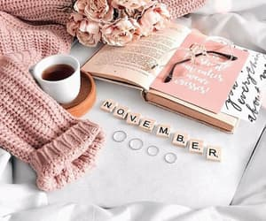 book, magazines, and coffee image