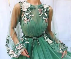 dress, fashion, and green image